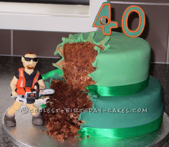 Cake Design Napier : Awesome Chainsaw Forestry Birthday Cake Birthday cakes ...