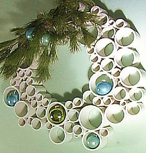 Awesome: made from PVC!!!! Christmas Wreath