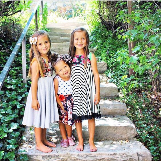 These sweet girls are lovely in their #shelleybeeoriginals
