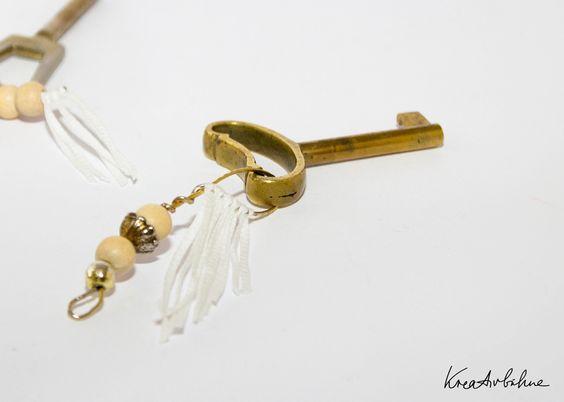 #keychain from #earrings #schlüsselanhänger aus Ohrringen by kreativbuehne