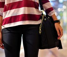 Inspiring picture bag, black, burgundy, chic. Resolution: 500x332 px. Find the picture to your taste!