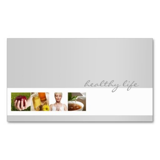 Simple grey minimalistic nutrition coach card business for Nutrition business cards