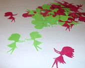 Hawaiian Hula Girl 200 pieces of Confetti-Paper Punches-Die Cuts