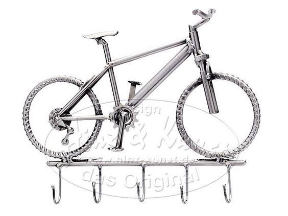 Schlüsselboard Fahrrad .  Schlüsselleiste - Geschenk für Fahrradfahrer Egal ob Fahrradschlüssel, Haustürschlüssel oder Garagenschlüssel - an diesem
