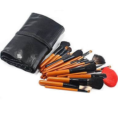 26Pcs Professional Natural Animal Hair Makeup Brush Set with Environmental Wood Handle
