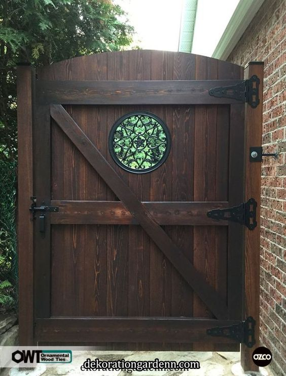 Ozco Building Products Fence Gate Design Wooden Garden Gate Backyard Gates