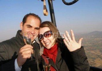Propuesta de matrimonio en globo Vuelo en Globo