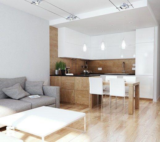 Resultado De Imagen De Aneks Kuchenny W Ksztalcie Litery U Living Room And Kitchen Design Small Apartment Interior Apartment Interior