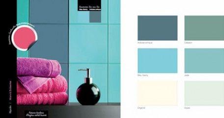 9 ambiances couleurs pour savoir utiliser un nuancier for Peinture salle de bain couleur bleu