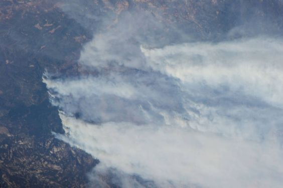Smoke Plumes From California Wildfires
