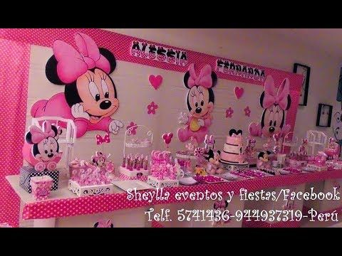 Minnie Mouse Mesa Temática De Dulces Decoracion De Fiesta Infantil Boc Decoración De Fiestas Infantiles Mesa De Dulces Boda Vintage Fiesta Infantil Tematica