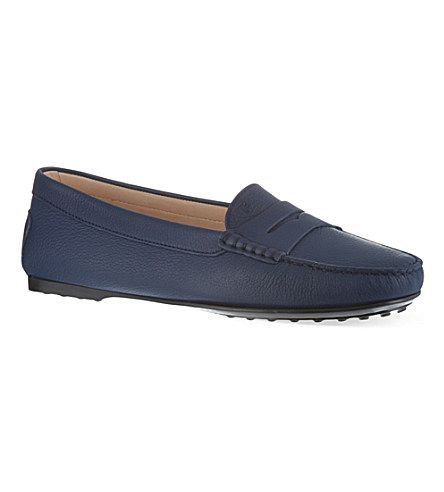 TODS Gomma leather moccasins (Navy