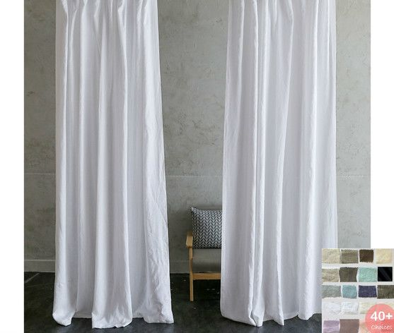 Natural Linen Curtains Pick Your