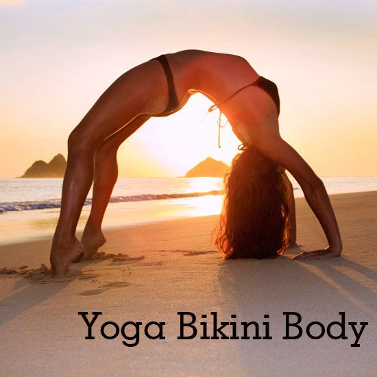 Totally doable! Here are 12 challenging yoga poses that will tone your tush, thighs, abs and upper body so you feel confident parading around the beach in a teeny bikini. Follow this sequence through on the right side and then repeat on the left.