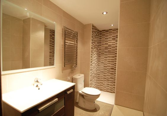 Baño Estilo Contemporaneo:Ideas de #Baño, estilo #Contemporaneo color #Beige, #Marron, #Blanco