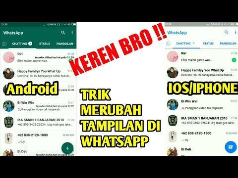 Cara Merubah Tampilan Whatsapp Android Menjadi Ios Iphone Youtube Cara Merubah Tampilan Whatsapp Android Seperti Iphone Panduan Cara Ubah Tampilan Android J