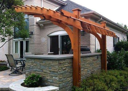 50 Awesome Outdoor Kitchen Design Ideas You Will Totally Love Pergola Patio Curved Pergola Pergola
