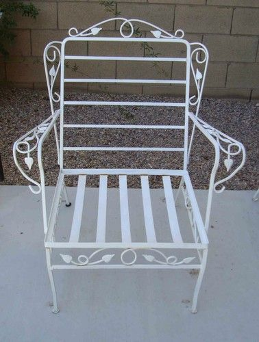 Salterini Classic 1960's plete Wrought Iron Patio Furniture Set 9 Piece