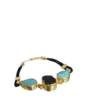 Ottoman Hands Stones On Cord Bracelet
