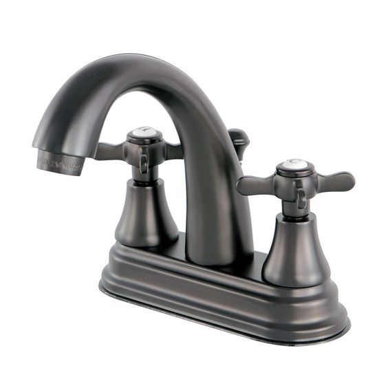 Kingston Brass English Cross 4 in. Centerset 2-Handle High-Arc Bathroom Faucet in Chrome,