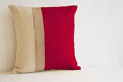 red pillow covers red pillows