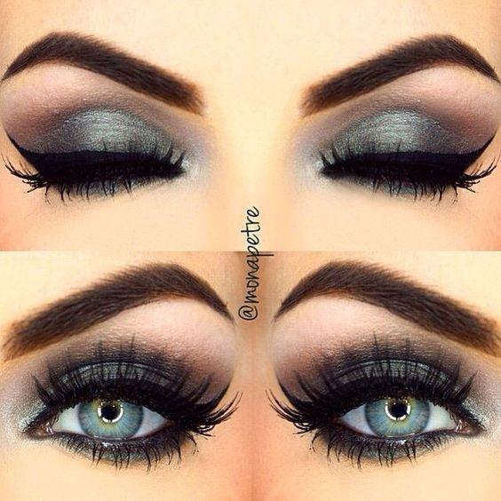Eye makeup for gray hair