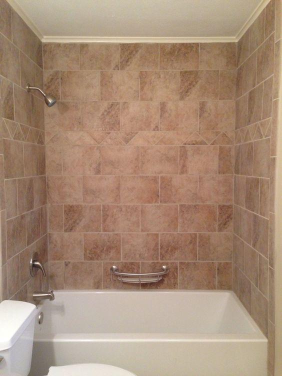 Tile surround bathtub beige tile around bathtub our for Tiling around a bath