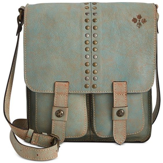 Patricia Nash Washed Denim Armeno Messenger ($199) ❤ liked on Polyvore featuring bags, messenger bags, bolsa, purses, light denim, denim messenger bag, green messenger bag, patricia nash and courier bags