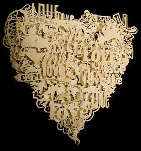 Heart paper cut out art <3