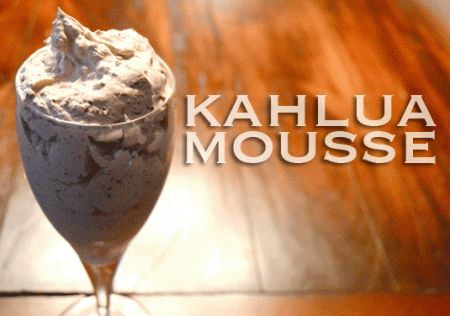 1 tub cool whip + 2 Hershey bars + as much Kahlua as you can handle.  Blend well.  Chill. Enjoy.
