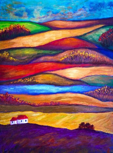 Dsc By Lilia Art Colorful Landscape Paintings Colorful Landscape Art