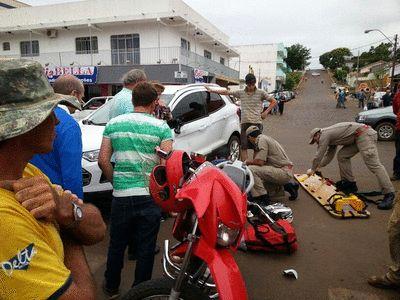 BLOG DO MARKINHOS: Acidente entre veículo e moto em frente a Rádio Po...