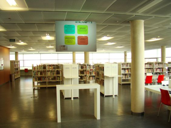 Instalación realizada en la Biblioteca de Burgos
