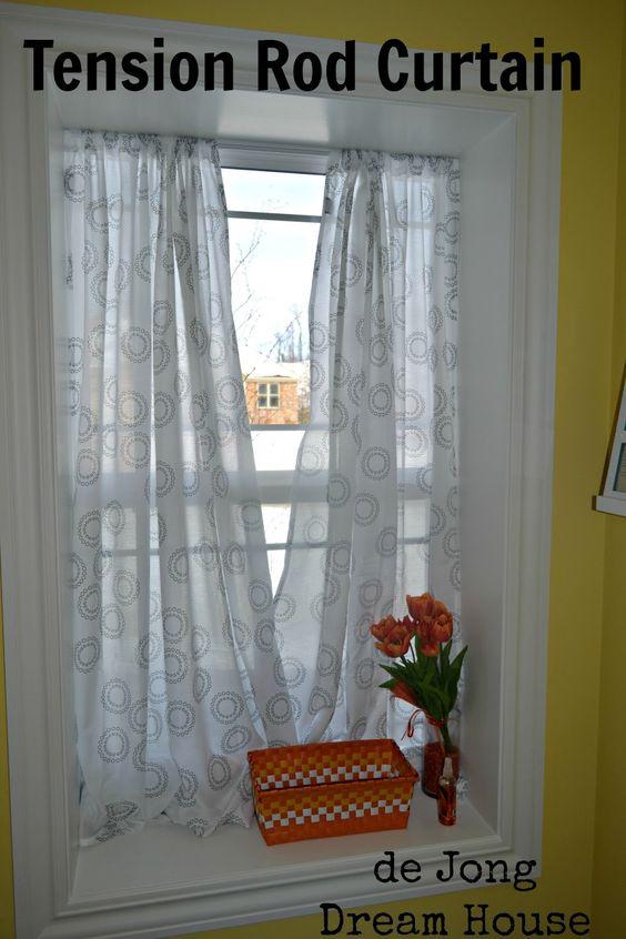 De Jong Dream House Tension Rod Curtain In Deep Window