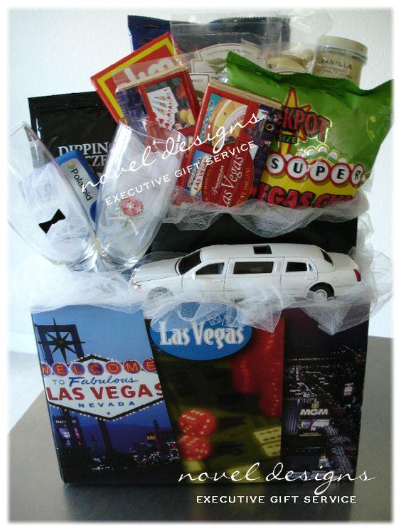 Las Vegas Drive Thru Wedding Gift Basket. Novel Designs Executive Gift ...