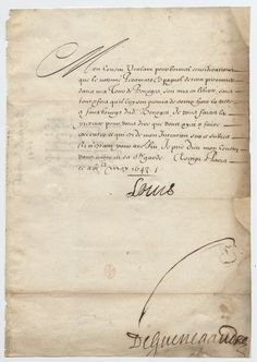 Letter from Louis XIV to the Prince de Condé, 16 May 1643: