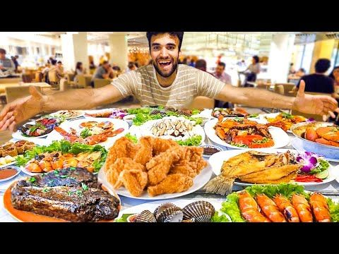 World S Best All You Can Eat Buffet Record Breaking 100 Million Budget Youtube Steak And Seafood Eat Buffet Food