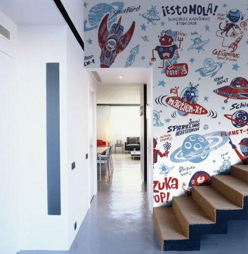 Murales en gran formato para habitaciones juveniles