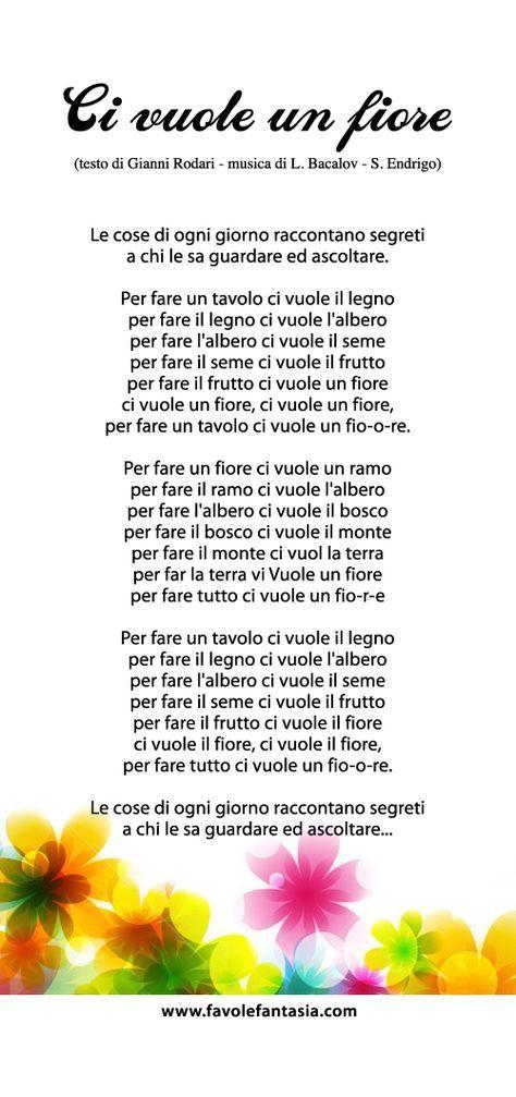Cosi Quando Vogliamo Cantarla Siamo Preparati Filastrocche Canzoni Per Bambini Parole Italiane