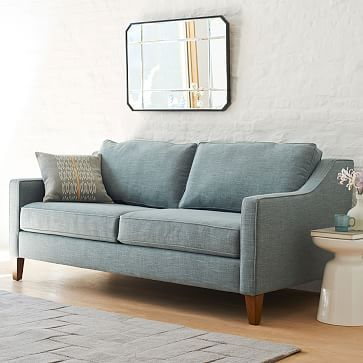 Paidge Sofa #westelm --> I like the color of the couch and the color/texture of the rug.