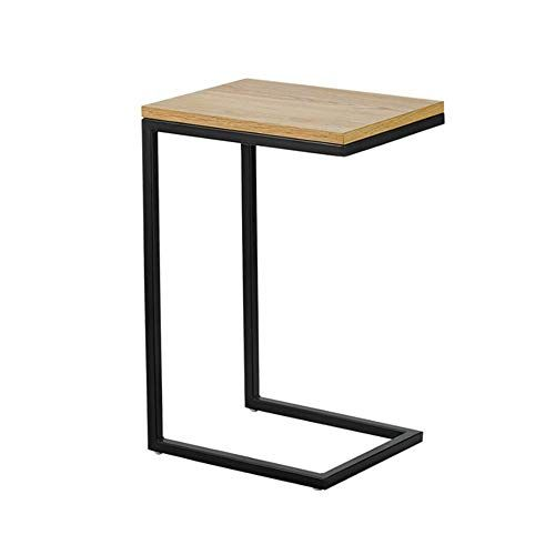 Xiaolin Table Wood Sofa Side Table C Shape Bedroom Metal Bedside Table Accent Sofa Side Table Slide Under For Li Bedside Table Metal Sofa Side Table Side Table
