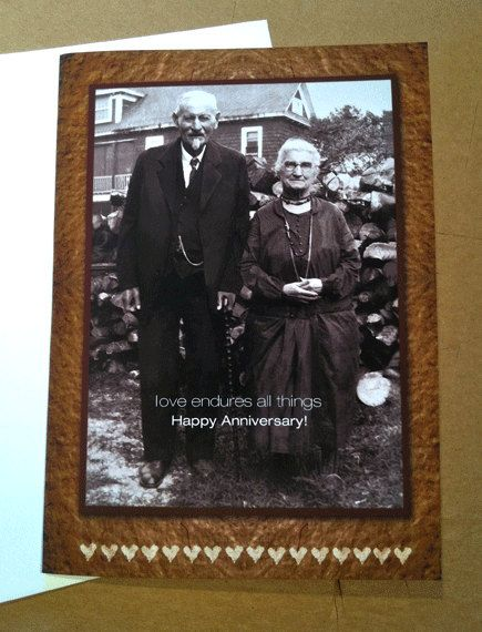 Anniversary Greeting Card by roxy5235 on Etsy.