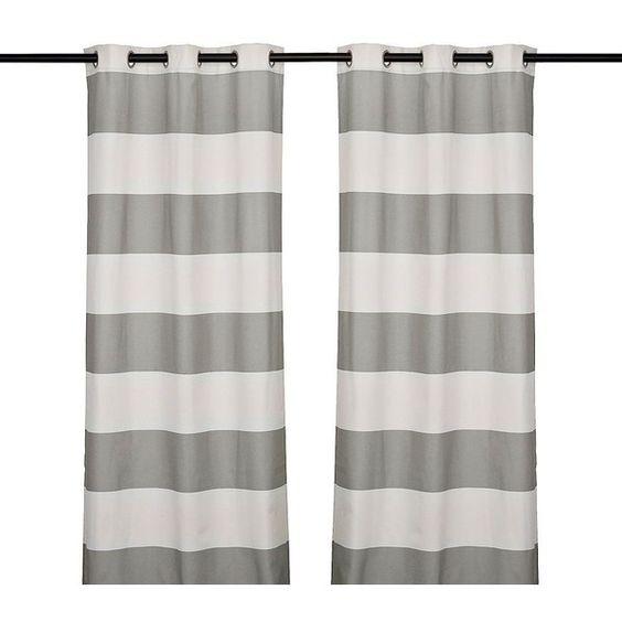 Surfside Marine Curtain Panel Set, 84 in. ($35) ❤ liked on ...