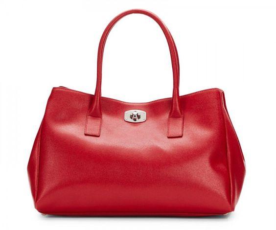 Henkelhandtasche aus Leder rot | Restposten: Markentaschen | Aktuelle Deals | sooo.ch - das Online Marken Outlet der Schweiz