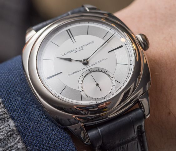 """Laurent Ferrier Galet Classic Square Sector Dial Tourbillon Double Spiral Watch Hands-On - by Kenny Yeo - For more great shots and info on the tourbillon head to: aBlogtoWatch.com - """"Laurent Ferrier has got to be one of the most interesting independent watchmakers out there for more than one reason. The man is a veteran in the industry, having worked for some 37 years at Patek Philippe before starting his eponymous watch brand. During that time, he dabbled in amateur racing..."""""""