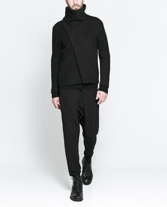 ZARA - MAN - TROUSERS WITH PLEATED CLOSURE