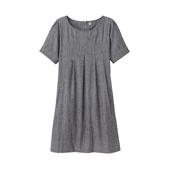 Linen Pullover Dress - Uniqlo