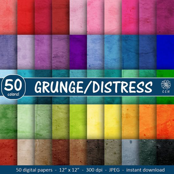 Grunge Digital Papers  distressed background by CallisCraftHouse