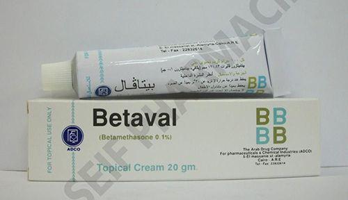 بيتافال كريم لعلاج الحساسية والتسلخات بالجلد Betaval Cream Pharmacy Medicine Ointment Topical