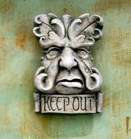 French Green Man Concrete Wall Plaque 9.5H X by FLEURDELISSTATUARY